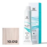 TNL, Крем-краска для волос Million Gloss оттенок 10.012 Платин. блонд прозрачн.пепел.перламутр., 100 мл