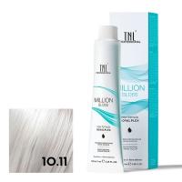 TNL, Крем-краска для волос Million Gloss оттенок 10.11 Платиновый блонд пепельный интенсивный, 100 мл