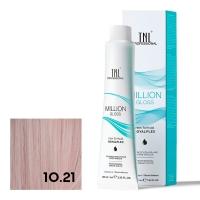 TNL, Крем-краска для волос Million Gloss оттенок 10.21 Платиновый блонд фиолетовый пепельный, 100 мл