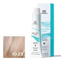 TNL, Крем-краска для волос Million Gloss оттенок 10.23 Платиновый блонд перламутр. золотистый, 100 мл