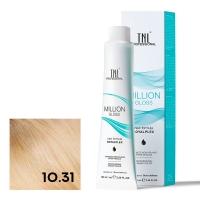 TNL, Крем-краска для волос Million Gloss оттенок 10.31 Платиновый блонд золотистый бежевый, 100 мл