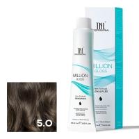 TNL, Крем-краска для волос Million Gloss оттенок 5.0 Светлый коричневый, 100 мл