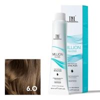 TNL, Крем-краска для волос Million Gloss оттенок 6.0 Темный блонд, 100 мл