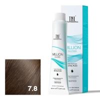 TNL, Крем-краска для волос Million Gloss оттенок 7.8 Блонд карамель, 100 мл