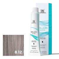 TNL, Крем-краска для волос Million Gloss оттенок 8.12 Светлый блонд пепельный перламутровый, 100 мл