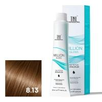 TNL, Крем-краска для волос Million Gloss оттенок 8.13 Светлый блонд бежевый, 100 мл
