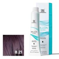 TNL, Крем-краска для волос Million Gloss оттенок 8.21 Светлый блонд фиолетовый пепельный, 100 мл