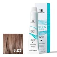 TNL, Крем-краска для волос Million Gloss оттенок 8.23 Светлый блонд перламутровый золотистый, 100 мл