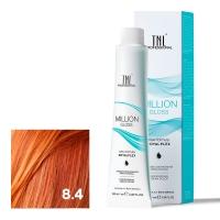 TNL, Крем-краска для волос Million Gloss оттенок 8.4 Светлый блонд медный, 100 мл