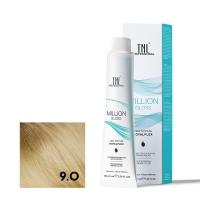 TNL, Крем-краска для волос Million Gloss оттенок 9.0 Очень светлый блонд, 100 мл