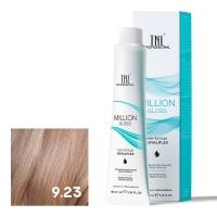 TNL, Крем-краска для волос Million Gloss оттенок 9.23 Очень светлый блонд перламутр. золотистый, 100 мл