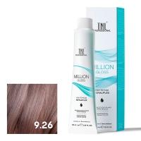 TNL, Крем-краска для волос Million Gloss оттенок 9.26 Очень светлый блонд розовый, 100 мл