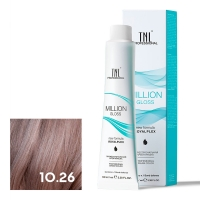 TNL, Крем-краска для волос Million Gloss оттенок 10.26 Платиновый блонд розовый, 100 мл