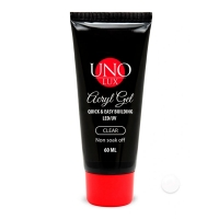 Uno Lux, Акрил-гель Clear - Прозрачный, 60 мл